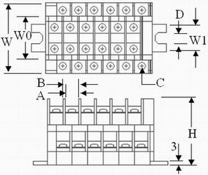 TD series terminal blocks blueprint