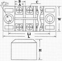 TB series terminal blocks blueprint